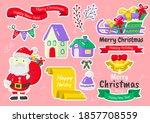 christmas label vector logo for ... | Shutterstock .eps vector #1857708559