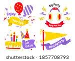 party label vector logo for... | Shutterstock .eps vector #1857708793
