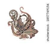 paisley pattern. isolated... | Shutterstock . vector #1857769156