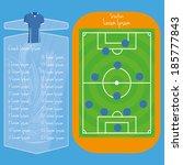 vector soccer field editable... | Shutterstock .eps vector #185777843