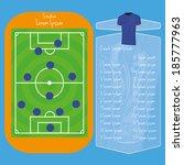 vector soccer field editable... | Shutterstock .eps vector #185777963