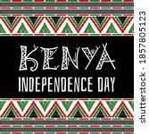 kenya independence day... | Shutterstock .eps vector #1857805123