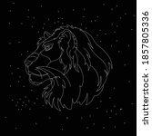 leo zodiac sign white symbol on ...   Shutterstock .eps vector #1857805336