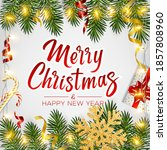 merry christmas and happy new... | Shutterstock .eps vector #1857808960