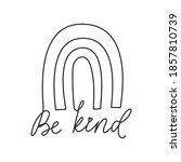 be kind inspirational design in ... | Shutterstock .eps vector #1857810739