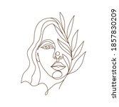 vector illustration of a woman... | Shutterstock .eps vector #1857830209