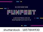 modern colorful alphabet fonts. ... | Shutterstock .eps vector #1857844930
