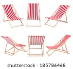 Beach Chairs Isolated On White...