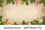 christmas background with... | Shutterstock .eps vector #1857866770