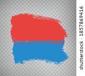 flag canton of  ticino brush... | Shutterstock .eps vector #1857869416