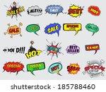 pop art comic sale discount... | Shutterstock . vector #185788460