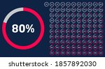 set of circle percentage...   Shutterstock .eps vector #1857892030