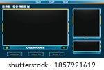 stream overlay brb screen blue...
