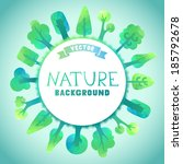 nature vector background.... | Shutterstock .eps vector #185792678