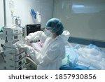 A Medical Staff Member Works...