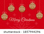 beautiful christmas card with... | Shutterstock .eps vector #1857944296