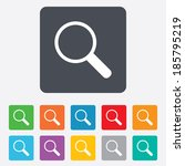 magnifier glass sign icon. zoom ... | Shutterstock .eps vector #185795219