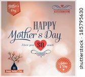 happy mothers day  design...   Shutterstock .eps vector #185795630