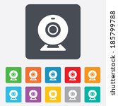 webcam sign icon. web video... | Shutterstock .eps vector #185799788