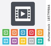 video sign icon. video frame...   Shutterstock .eps vector #185799866