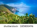 lipari island  italy  beautiful ... | Shutterstock . vector #185800496