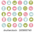 woman fashion icons | Shutterstock .eps vector #185800760