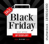 black friday sale vector... | Shutterstock .eps vector #1858016500