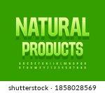 vector green emblem natural...   Shutterstock .eps vector #1858028569