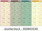 2014 2017 calendar | Shutterstock .eps vector #185803130