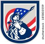 illustration of an american... | Shutterstock . vector #185803559