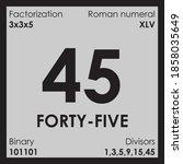 45 forty five number digit... | Shutterstock .eps vector #1858035649