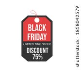 black friday  sale. black and... | Shutterstock .eps vector #1858042579