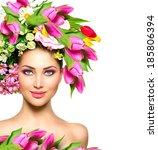 Spring Woman. Beauty Summer...