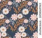 white floral flower wallpaper ... | Shutterstock .eps vector #1858069963