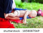 Baby CPR first aid training for choking