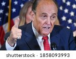 Small photo of Washington, DC, USA 20/11/2020 Rudolph William Louis Giuliani KBE is an American attorney and politician A Democrat and then Independent in the 19
