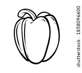 peppers. vector illustration of ...   Shutterstock .eps vector #1858096600