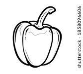 peppers. vector illustration of ...   Shutterstock .eps vector #1858096606