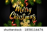 background with lettering merry ... | Shutterstock .eps vector #1858116676