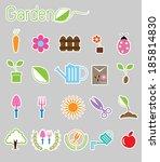 gardening color icon vector | Shutterstock .eps vector #185814830