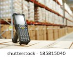 bluetooth barcode scanner in... | Shutterstock . vector #185815040