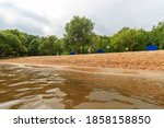 Sandy Beach On The Banks Of The ...