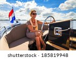 Beautiful Lady Sailing With A...