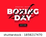 boxing day sale banner template. | Shutterstock .eps vector #1858217470