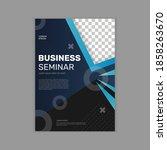 general business seminar flyer...   Shutterstock .eps vector #1858263670