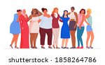 woman of different nationality... | Shutterstock .eps vector #1858264786
