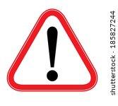 attention warning sign  vector   Shutterstock .eps vector #185827244