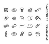 icon food set dessert line... | Shutterstock . vector #1858288993
