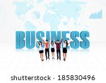 illustration of successful... | Shutterstock . vector #185830496