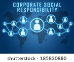 corporate social responsibility ... | Shutterstock . vector #185830880